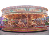 A Victorian Carousel, the most ornate and visually impressive funfair ride available.