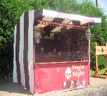 One of our range of horror themed games stalls available for hire for halloween / horror themed parties and events