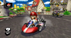 Wii Mario Cart, one of Nintendo's most famouus characters.
