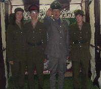 Some of our staff in Military dress